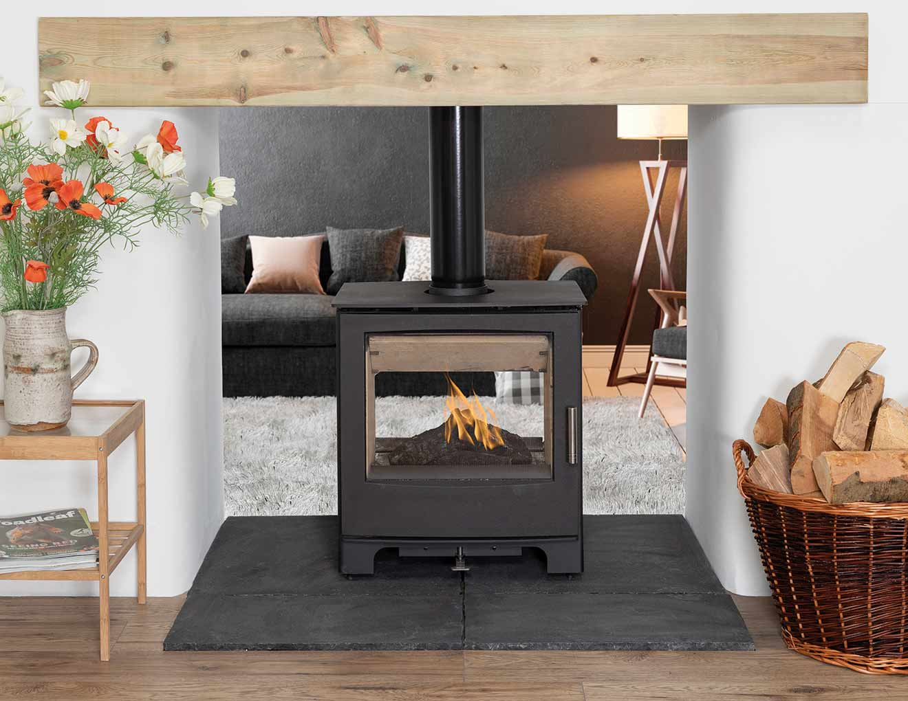 Woodland 8kW Double Sided Stove Featured Image